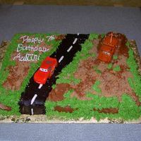 Cars Cake With Lighting And Mader
