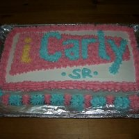 Icarly Cake   iCarly -- chocolate cake, buttercream frosting