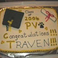 My Son's Graduation! This was my first cake of this size and my first graduation cake. I see the mistakes I made and I will know what to do and what NOT to do...