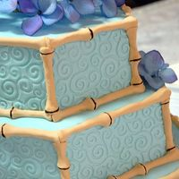 Asian Wave Cake My first wedding cake! Did this one last July and am just getting the photographer's photos back. Inspired by a cake in Martha Stewart...