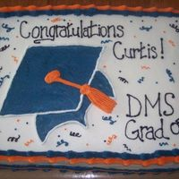 Graduation Did this one for my cousin's college graduation. DMS is Diagnostic Medical Sonography. Done in al buttercream.
