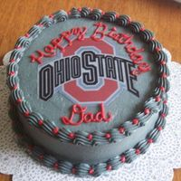 Buckeye Birthday Easy yet fun Ohio State birthday cake. GO BUCKS!