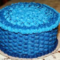 Blue Basketweave I made this cake for my grandma because she loves blue. This was my second time to do the basketweave so it was good practice. She loved...