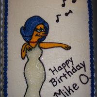 Marilyn Monroe As A Simpson This is my design of Marilyn as a Simpson My former co-worker ordered this cake for his 24th birthday.