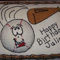Baseball Birthday This cake was ordered for 10th birthday of a boy who loves baseball. I had creative freedom on this because the mom wasn't sure what...