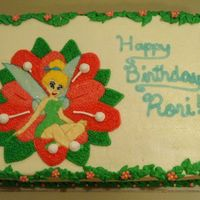 Tinkerbell Birthday Cake A friend of mine ordered this for her daughters birthday. All she knew was she wanted a picture of Tinkerbell and this is what i came up...