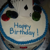 Poker Birthday This was a last minute cake order for my co-worker. Her brother is a poker fanatic and didn't have a cake for his 41st birthday party...