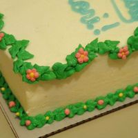Tinkerbell Leaf Border Leaf border for tinkerbell cake. I really like how this came out. It finished the look of the cake.
