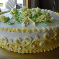 Yellow Rose Side View Thank you to Lesia, this was inspired by her Cassie cake. White chocolate cake with white chocolate Swiss meringue buttercream , then...
