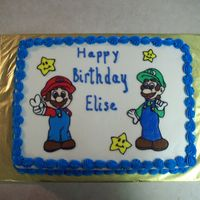 Super Mario Brothers All buttercream