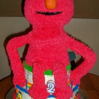 Elmo 3D Elmo 3D My 2nd attempt with fondant and first with RKT. When all said and done it stayed in one piece until it was time to serve him at the...