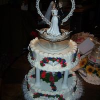 Jenny's Wedding Jenny's mom asked me two days before the wedding if I could do a special cake for her. And being like an Aunt to her for many years I...