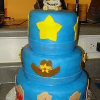 Cowboy Baby Shower chocolate chocolate chocolate! covered in fondant with fondant decorations... this is my first animal 3D design turned out pretty good.