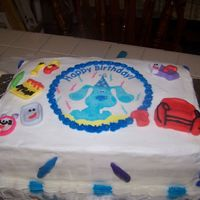 Blue Clues This was the extra cake for the blues clues birthday party it isn't as good as I had pictured in my mind but getting better with...