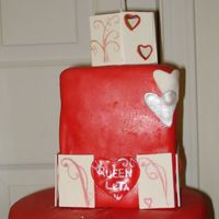 Queen Of Hearts yellow cake with chocolate icing covered in fondant birthday theme was queen of hearts! I enjoyed this cake branching out more and more...