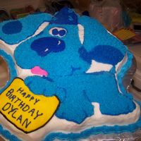 Blue Clues This was for a 2 year old's birthday just your cake pan and icing.