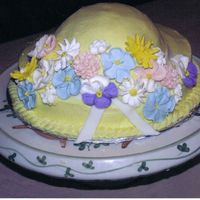 Steeple Chase Hat (Back View) Flowers are RI