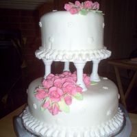 Wilton Class 3 Final cake from Wilton 3 class. I love the fondant roses!