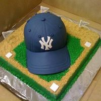 Yankees Baseball Cap This cake I made for a 10 year old who was getting to go to Yankees stadium for his birthday! Brim: I laid a piece of parchment paper on...