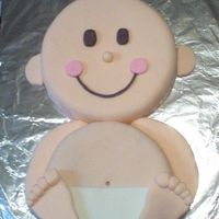 Baby B Baby cake made of all fondant