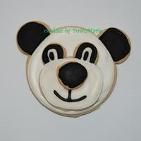 Panda Stacked Cookies NFSC w/Antonia's RI. These are the stacked wilton cutter. The 3 layers of cookies plus the RI....these cookies were very heavy!!!!...