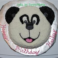 Panda Bear Cake This was a Panda bear cake for my DD 6th birthday. Also had Panda cookies and Panda cupcakes for the family party!!!TFL!