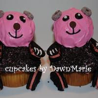 Panda Cupcakes I saw these somewhere, (sorry not sure if it was here or not) I used the strawberry oreo's & flavored the BC strawberry as well....