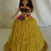 "Hula Girl Barbie Darn good chocolate cake iced in BC. The third cake for my neice's ""hula"" sweet 16. I used the wondermold but carved some of..."