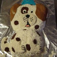 Spottedpup Chocolate cake with strawberry BC. Straight from the Wilton Year book except for the fondant ears. My sone insisted his puppy cake had our...