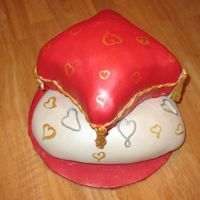 Valentine Pillows I made this cake for my DH for valentine's day. I made the same flavors we had for our wedding cake.