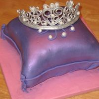 Pillow Cake With Tiara  I did this cake using the tutorial by missyek. It was a great tutorial!!! It is a chocolate amaretto cake with a mixture of nutella and...