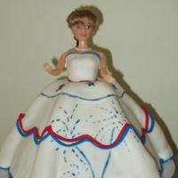 Fourth Of July Doll Cake This was my first attempt at a doll cake, and she didn't turn out like I had hoped. I covered her in fondant last night and that was...