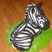 Zebra Cake I made this cake to figure out how I could do a zebra cake for an African themed gourmet dinner that my boss is having in August. I think I...