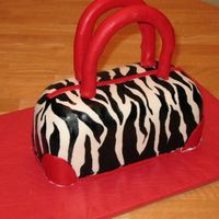 Zebra & Red Purse Cake   I had a lot of fun making this cake. It's a WASC.