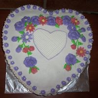 Heart Cake Made this cake for my friend's bday.It was also her husband bday.