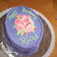 Sotas Cake Simple birthday cake with royal icing roses and bc sotas around.