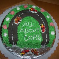 Car Cake I made this cake just for practice.My son ate a small bite after I baked the cake,so I was left with a kind of semicircle shape.Didn't...