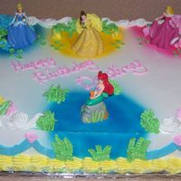 Disney Princess Cake I made this for daughters best friends birthday.Her mom loved it and gave me $20.00 to cover the supplies.
