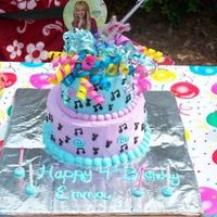 Hannah Montana I made this cake for my little girl she turned 4 on Mother's Day.