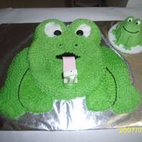 1St Birthday (Nephews) Frog Cake   This was my nephews 1st Birthday cake.