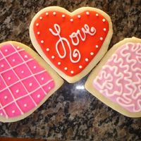 Valentines Day Cookies These are my first cookies. It's the NFSC recipe with Royal Icing.
