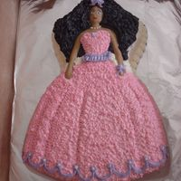 Barbie Doll Cake I made this cake today. It's a yellow cake using one of the older barbie pans. It orignally came with a layon for the face part. I...