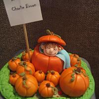 It's A Boy, Charlie Brown!  Halloween Birthday Cake