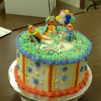 First Class - Cake Number 1 This was made May 31st at my 2nd class of Beginners Cake Decorating at the Cake Carousel in Richardson, Tx. I just thought I would like to...