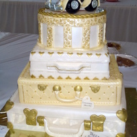 Suitcase Wedding Cake Won first prize at local fair.