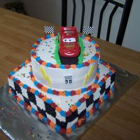 Cars This cake I done for my little boys 5th birthday. I would like to thank the people on this site for their inspiration. Thanks