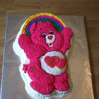 Care Bear I done this cake for my nieces birthday