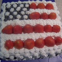 4Th Of July Cake Here is my take on the 4th of July Flag cake. I am pretty proud of it. It is very simple, but looked great on the table. It is a coconut...