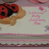 Baby Lady Bug Bottom This cake was for my co-worker. She was expecting a little girl and the room was going to be decorated in lady bugs. Surprise Surprise baby...