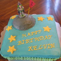 Buzz Lightyear   Buzz Lightyear cake for alittle boys 1st birthday. All buttercream. Thanks for looking!